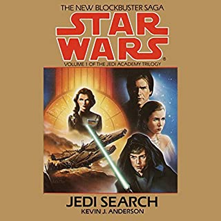Star Wars: The Jedi Academy Trilogy, Volume 1: Jedi Search                   By:                                                                                                                                 Kevin J. Anderson                               Narrated by:                                                                                                                                 Anthony Heald                      Length: 3 hrs     55 ratings     Overall 4.2