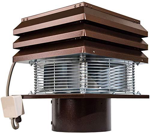 Extractor de humo Extractores de humo para chimeneas para barbacoa Aspirador de humos para chimenea extractor de chimenea extractor chimenea leña Gemi Elettronica profesional redondo de 25 cm 250 mm