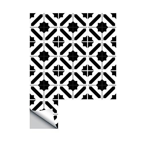 Weehey 10 Unids/Set Pegatinas de Baldosas Autoadhesivas Calcomanías de Arte DIY Etiqueta de La Pared Cocina Backsplash Baño Extraíble Casa Ordenada Protección