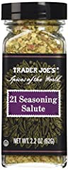 Pack of 1 Bottle - 2.2 oz. Spices of the world 21 Seasoning Salute 2.2-Ounce glass shaker