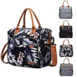 Insulated Lunch Bag - Large Portable Cooler Lunch Box for Office Work School Picnic Beach Workout - Reusable Freezable Tote Lunch Bag Organizer with Adjustable Shoulder Strap for Women Men Adult Kids