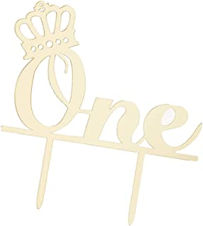 F Fityle Golden One Acrylic Cake Topper 1st Birthday