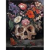 JHGJHK Arte Creatividad Horror cráneo Pintura al óleo Vacaciones Arte de la Pared Decoraciones Sala de Estar decoración de la habitación (Imagen 11)