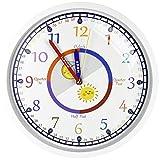 DORBOKER Reloj de pared infantil para dormitorio, sala de estar, aula,...