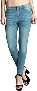 KOTTY Womens High Rise Cotton & Lycra Skinny Jeans(Blue,26)
