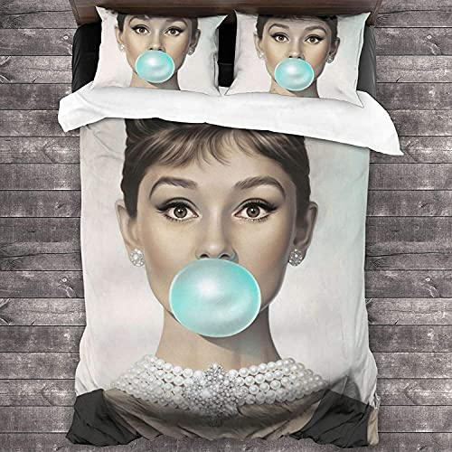 Audrey Hepburn weiches Bettwäsche-Set, Hepburn