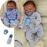 ZIYIUI Realista 20 Pulgadas Bebe Reborn Girl Reborn muñeca bebé Vinilo de Silicona Suave 50 cm simulación recién Nacido Juguete Realidad