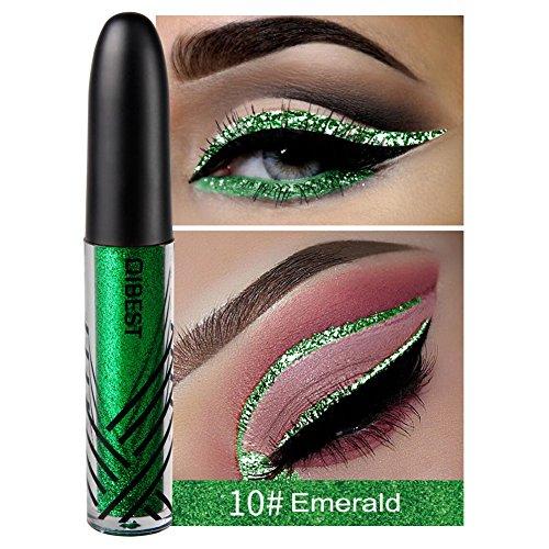 Schimmer Liquid Eyeliner Glitzer Liquid Eyeliner Sparkling Eyeliner, Smaragd