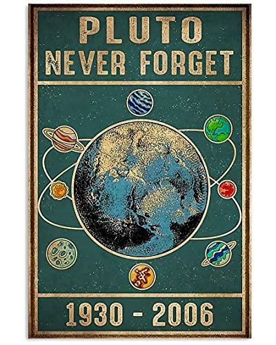 DC Prints Wissenschaftler Fluto Vergessen Sie nie 1930-2006 Poster Kein Frame-Board für Büro-Dekor, Familie und Ihre Freunde 11,7 * 16,5 Zoll