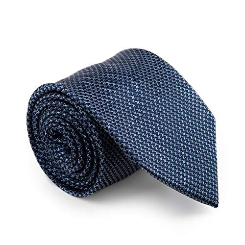"""GENTSY ® 100% Seta Cravatte da Uomo Cucita a Mano Larghezza 8cm / 3.15"""" Design Unico (K1 grigio)"""