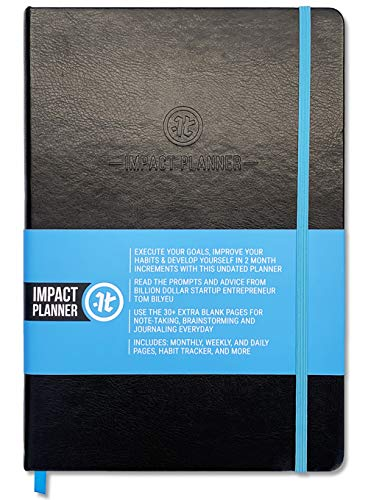 Impact Planner by Impact Theory - Daily Planner, Weekly Planner, Monthly Planner - 7�x10� Hardcover 2020 Planner, 2 Months - Motivational Quotes, Mindset & Beliefs, Gratitude Journal