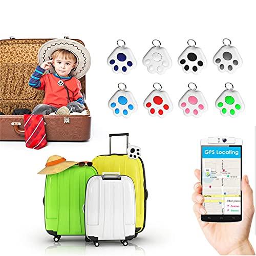 Eariy Katze Hund Mini Bluetooth GPS Tracker, Hundepfote Mini Wasserdichter Bluetooth Ortungs Tracker, für Haustier Hund Katze Schlüssel Geldbeutel Tasche Kinder