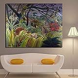 N/A Tiger im Dschungel abstrakte Landschaft Malerei
