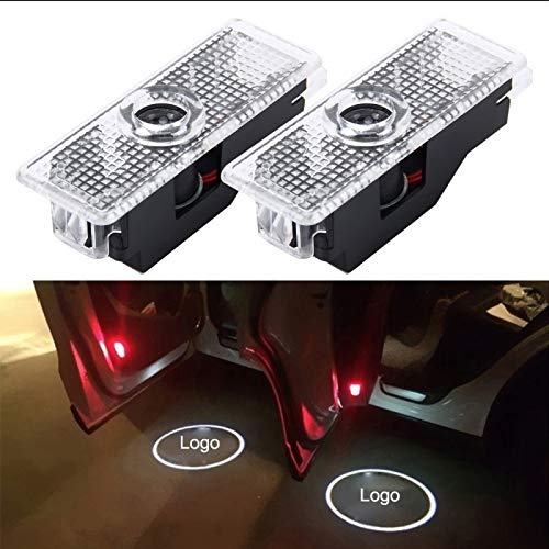 CattleBie 2 PCS LED Car Door Welcome Logo Car Brand 3D Shadow Light For BMW (Color : Multi-colored)