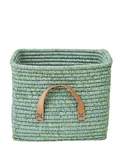 Rice Aufbewahrungskorb aus Bast Farbe Mint