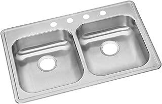 Elkay GE233223 Dayton Equal Double Bowl Drop-in Stainless Steel Sink