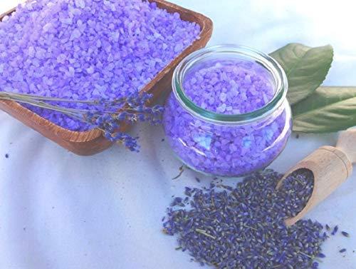 Badesalz Lavendel im Schmuck WECK-Glas, ohne Palmöl, von kleine Auszeit Manufaktur