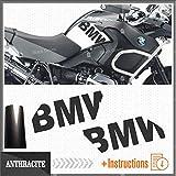 2pcs Adesivi Fianco Serbatoio compatibile con R1200GS Adventure 2008-2013 R 1200 GS Motorrad Moto R1200 ADV (antracite)