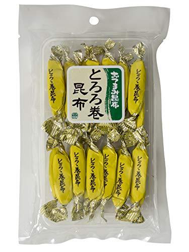 とろろ巻昆布 60g(コンブの香りとトロロの風味が楽しめる)個包装で食べやすい!味付きこんぶにとろろを巻いた優しい味のおつまみ昆布 とろろ昆布を巻きつけました