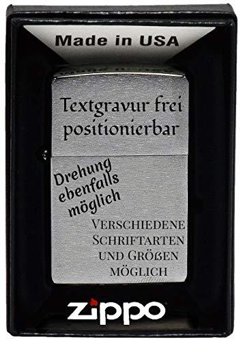 geschenke-fabrik.de Feuerzeug mit Gravur - personalisiert optional mit Geschenkset - Geschenk für Männer, Papa oder Freund - freie Gravur