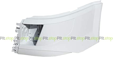 Volvo VNL 2016-UP Painted White Corner Bumper Left Driver Side WITH Fog Light Cut-out 85148283