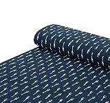 Nadeltraum Baumwoll - Musselin Stoff Giraffe dunkelblau -