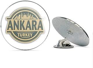 Leyland Designs Ankara City Turkey Travel Stamp Metal 0.75
