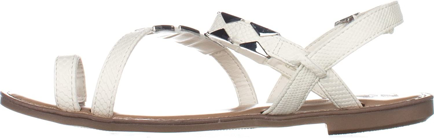 Bar III Womens Vadya Open Toe Casual Slingback Sandals, White, 9.5