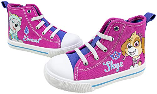 Paw Patrol Toddler Shoes,Skye Everest,Zipper Closure, Pink, Toddler Size 8