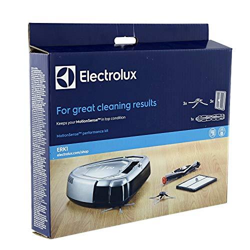 Kit Manutenzione per Robot Aspirapolvere MotionSense Electrolux | Il kit contiene 3 spazzole laterali PowerBrush, 3 filtri lavabili XXL e una spazzola principale