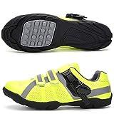 CHANGAN Zapatillas De Ciclismo para Hombre Zapatillas De Ciclismo MTB Ligeras Antideslizantes para Ciclismo Mountain Road Biking,Calzado de Ciclismo sin Bloqueo Yellow-43
