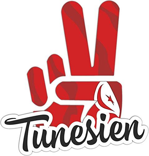 INDIGOS UG - Aufkleber / Autoaufkleber / Sticker - Tunesien - Victory - Sieg - Heckscheibe, Kofferraum - 10x8cm