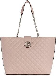 Guess Factory Women's Plush Quilted Carryall Bag - Blush