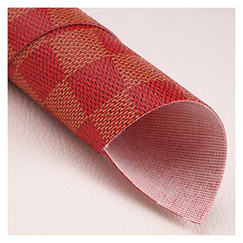 Es ist der Bogenherstellung 4A größe kariertes design gedrucktes strukturiertes vinyl pvc faux künstliches leder stofffolie für herstellung bug / tasche / handtasche / diy zubehör Lederbleche zum Hand