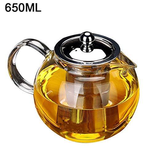 Glazen theepot ketel glas theepot thee potten hittebestendige glas theepot Chinese Kung Fu thee Set Puer Ketel praktische fles koffie glas Maker kantoor bloem thee pot gereedschap 650ml