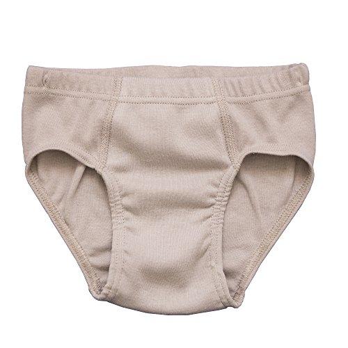 HERMKO 2850 Jungen Slip Unterhose für Jungs Sportslip ohne Bein 100% Bio-Baumwolle, Farbe:grau, Größe:116