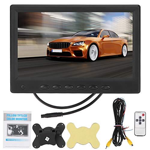 7 inch achteruitrijmonitor, LCD-monitor voor achteruitrijcamera's, HD-AV-LCD-kleurenvoertuig 1024 x 600 NTSC-PAL-achteruitrijmonitor en andere videoapparatuur