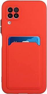 Lijc Kompatibel med Huawei P40 Lite 4G Fodral [Skärmskydd] Skyddskåpa med Kortplats Ultratunt Flexibelt mjukt Silikon TPU ...