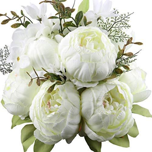 Flores artificiales, (rosa, 2 piezas) enredaderas de rosas artificiales, flores de seda, guirnaldas de rosas, plantas colgantes de hiedra rosa, utilizadas para la decoración del arco de la oficina en