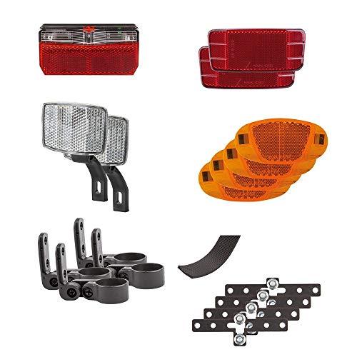M-Wave Streetproof Juego de Luces y reflectores para remolques, Unisex Adulto, Negro/Rojo/Naranja