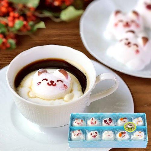 Latte ラテ マシュマロ ラテマル 10個 ケース入り 個包装 お菓子 詰め合わせ