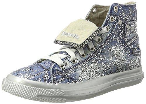 Diesel Damen Magnete Exposure IV W - snea Y00638 Hohe Sneaker, Blau (Indigo), 36 EU