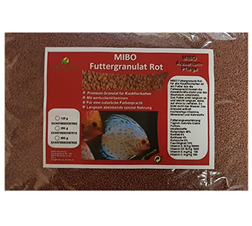 MIBO Hauptfutter Granulat Rot 1000ml / 500g Cichliden Bits für alle Zierfische im Aquarium