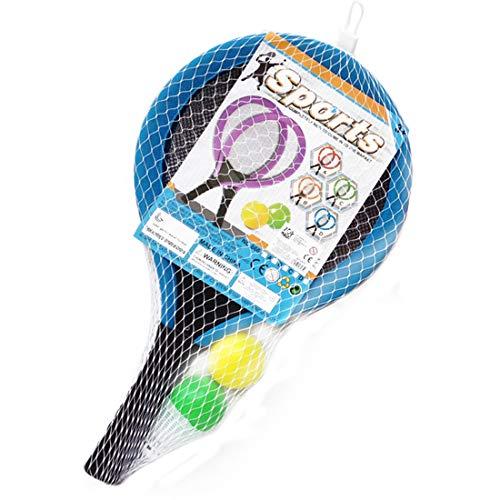 Seciie Tennisschläger Kinder, Badminton Racket Set Kinder Federball Set mit bälle Draussen Spielzeug für Kinder ab 3 4 5 6 Jahren