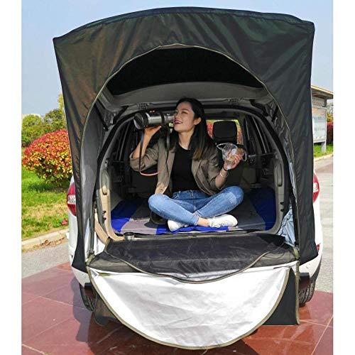 XTBB Tienda De Techo Carpa Trasera del Coche Equipo De Techo Al Aire Libre Canopy De Cola Tapa Ledger Toldo De Picnic para Peugeot 3008 Solo para SUV Negro