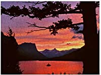 NEWUSAモンタナ氷河国立公園ランドスケープパズル500ピース木製アダルトジグソーパズルカラー抽象絵画パズル子供向け教育玩具ギフト