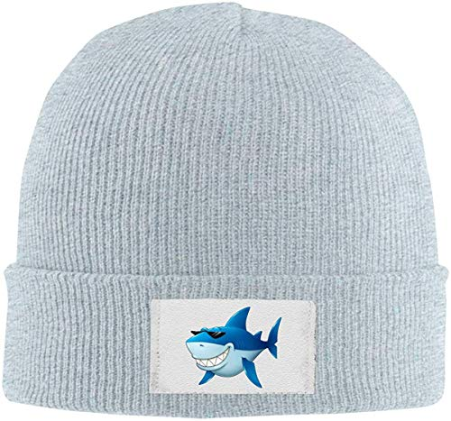 Alive Inc Shark Sonnenbrille Stretchy Hat Beanies Caps Cool Unisex Winter Grey