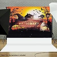 Flytise Halloween Style 1.5 * 2.1meters / 5 * 7feet Foldable Vinyl Photography Backdrop Backgroundかぼちゃ写真スタジオの小道具
