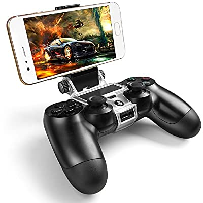 ICESPRING Phone Clip Holder Clamp Mount Stand Bracket for Playstation 4 Slim Pro PS4 Wireless Controller