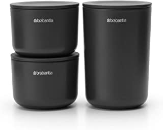 BRABANTIA Set 3 Bathroom Storage POTS - Grey